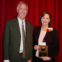 Ed Douglas, President CEF, and Teacher of the Year, Rosie Smith... click photo to enlarge.