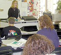 2002 Teacher of the Year, Jayme Caughron (15413 bytes)